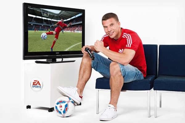 Lukas Podolski for Electronic Arts